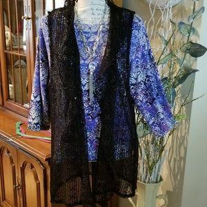 SUMMER SALE: 100% Polyester Crocheted  Vest